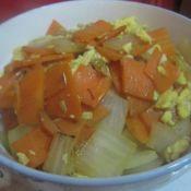 胡萝卜洋葱头炒鸡蛋