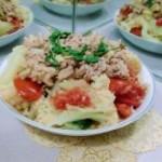 猪肉番茄炒菜花