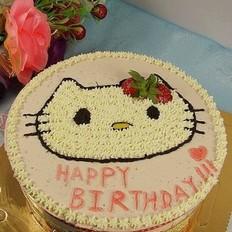 KITTY猫草莓慕斯蛋糕