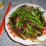 香菜炒猪血