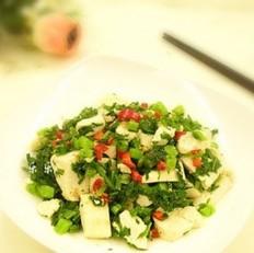 雪里红炒豆腐