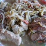 大骨头炖酸菜冻豆腐