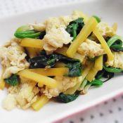 菠菜胡萝卜炒鸡蛋
