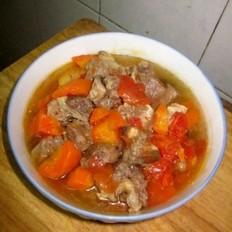 西红柿胡萝卜炖牛肉