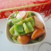青椒炒热狗肠