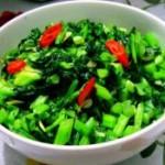 虾米炒雪菜