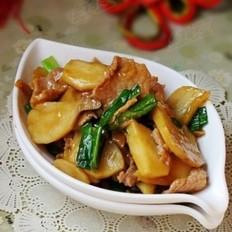 茨菇蒜苗炒肉片