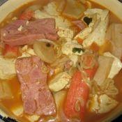 拉面蘑菇豆腐汤