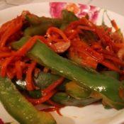 青椒炒胡萝卜丝
