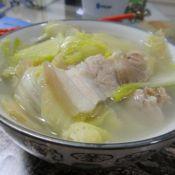 白菜五花肉炖粉条