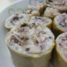 黑糯米釀猪大肠槐花汤