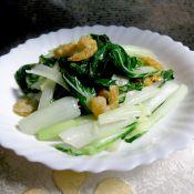 虾米炒小白菜