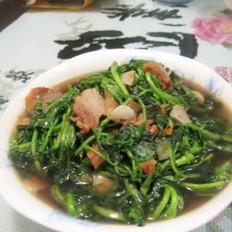 油渣炒西洋菜