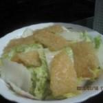 大白菜炒肉皮膏