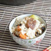 香肠豆豉焖饭