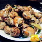 姜葱炒花螺