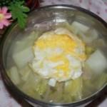荷包蛋大白菜荞麦面