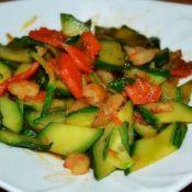 黄瓜片炒虾仁