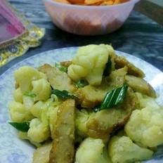 菜花炒肉卷