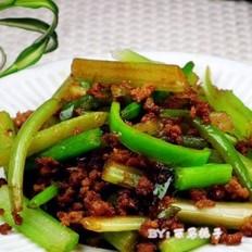 肉末尖椒芹菜