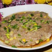 香芹玉米蒸肉饼