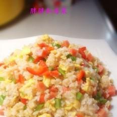三文肉肠蛋炒饭