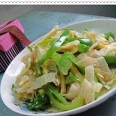 腌菜冬笋炒青椒