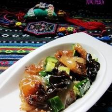 黄瓜拌海蜇头的做法