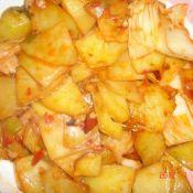 土豆片炒辣白菜