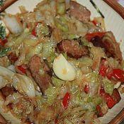 辣椒烤肉炒椰菜