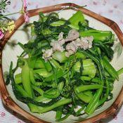 猪肉炒菜心