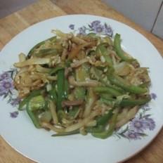 青椒白菜炒肉丝