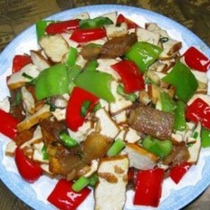 腊肉炒豆腐干