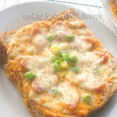 茄汁奶油吐司披萨