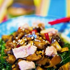金枪鱼香菇拌菠菜