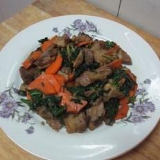 芹菜胡萝卜炒肘子肉