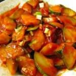韩式辣酱炒西葫芦片