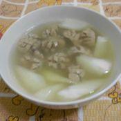 菜心贡丸汤