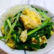 鸡蛋粉丝炒韭菜