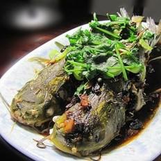 蒜头豆豉蒸黄骨鱼
