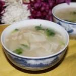 饺子皮小米汤