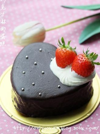 巧克力淋面蛋糕的做法