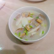 花蛤炒白果