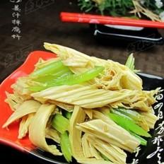 姜汁腐竹拌芹菜