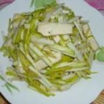 蒜黄炒豆腐