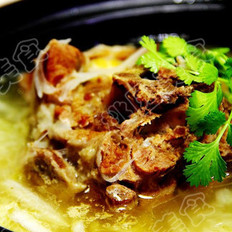 黄芪白菜羊蝎子靓汤