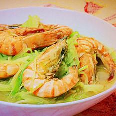 青萝卜炖虾