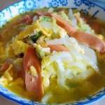 鸡蛋火腿肠炒白菜