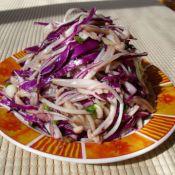 金针菇凉拌紫甘蓝