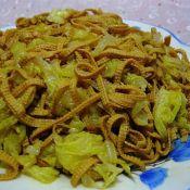 五香干豆腐炒白菜